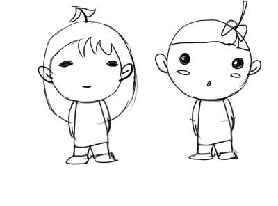 动漫 简笔画 卡通 漫画 手绘 头像 线稿 400_296