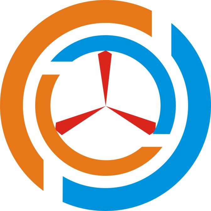 汽车轮胎与汽车方向盘结合的logo