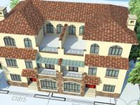 农村连体别墅建筑设计图纸