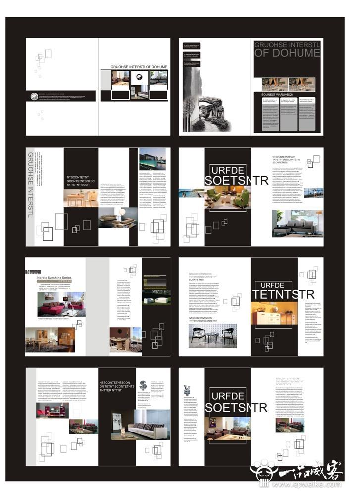 一,画册排版设计——目录   画册的目录是画册排版比较重要的部分图片