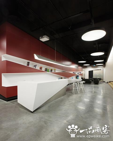 简约时尚的现代办公室设计方案效果图欣赏
