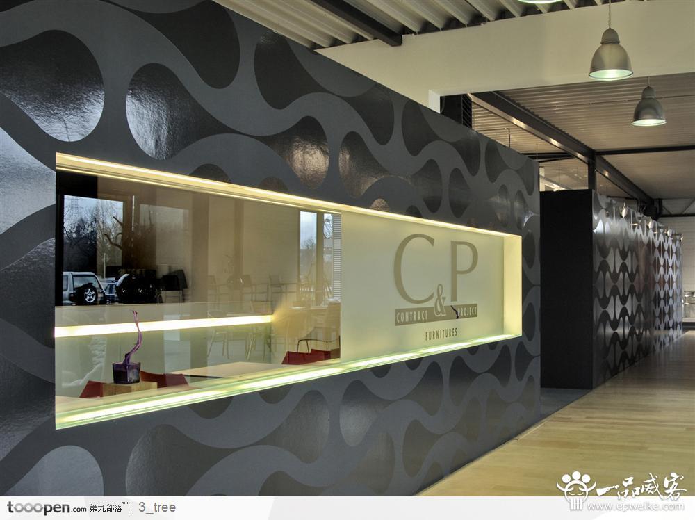 公司形象墙设计字体常用的材料选择图片
