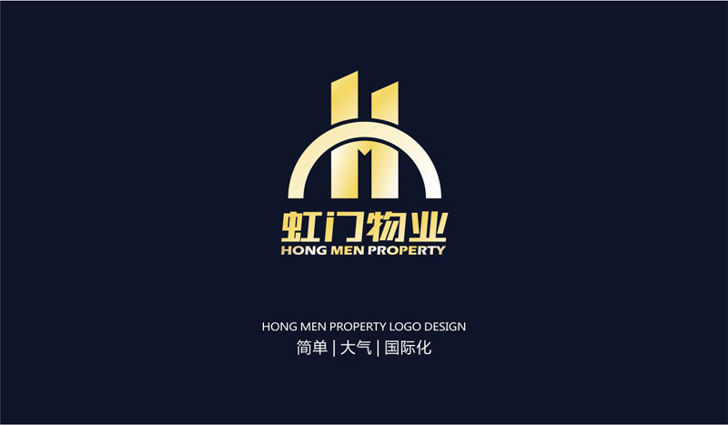 虹�9.�9.b:`�9/cy.#z�yd_虹门物业logo设计