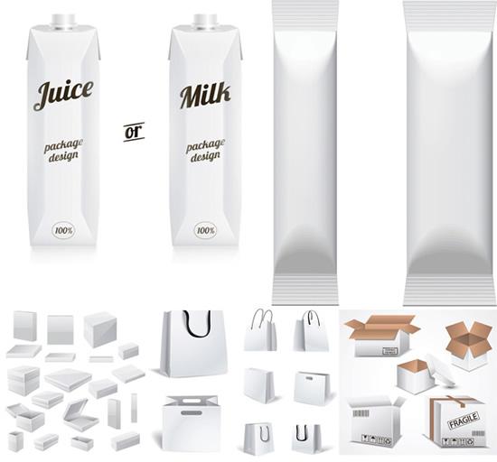 纯牛奶盒矢量图