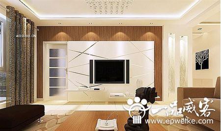客厅电视机背景墙设计装修风水禁忌图片