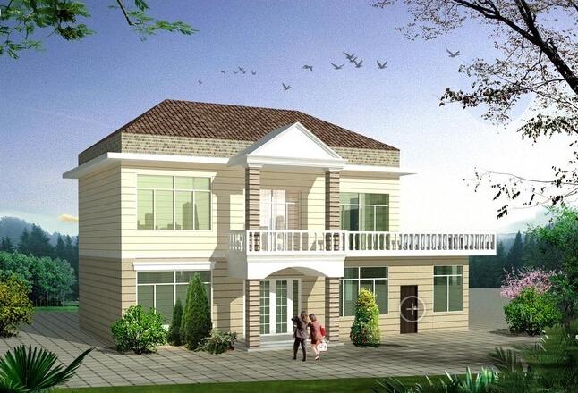 农村二层小别墅图片