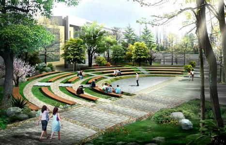 校园园林景观设计效果图