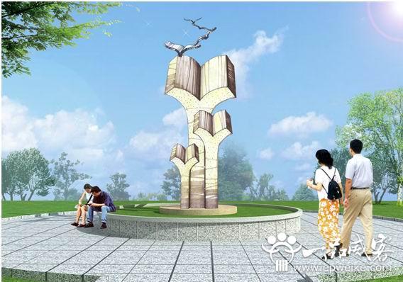 创意校园雕塑设计分布策略