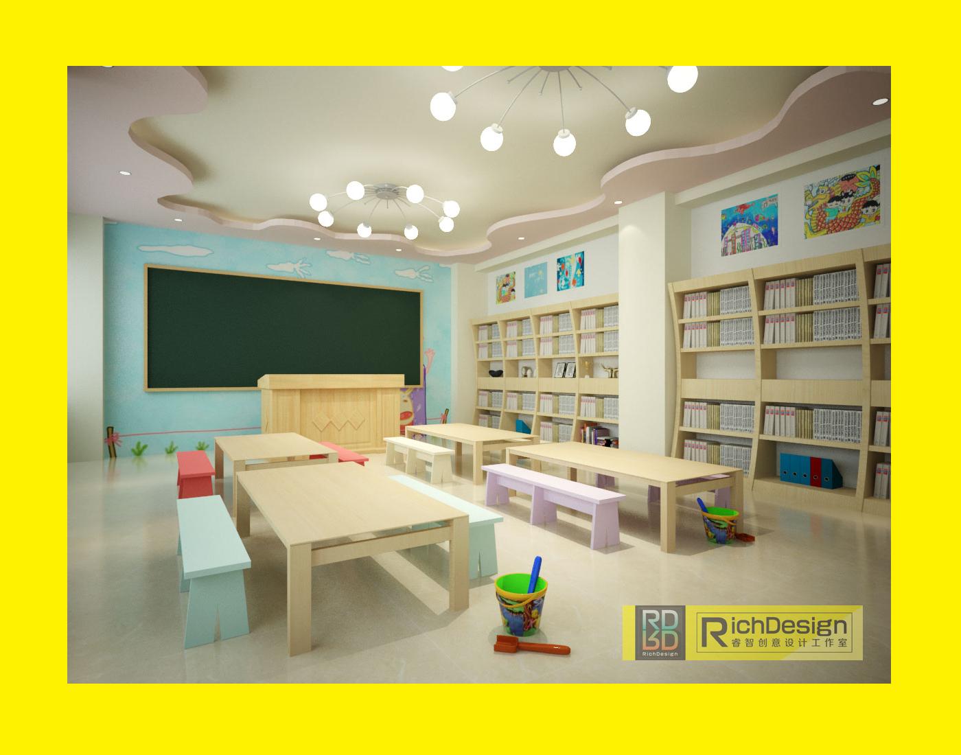 美术教室效果图_rich design图片