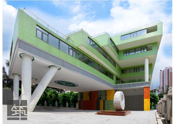 广州某幼儿园建筑设计,工程效果图及建筑实景图图片