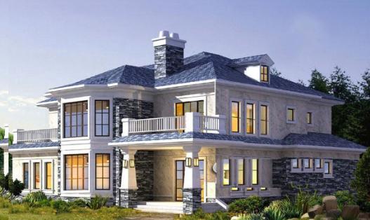 二层三层农村欧式小别墅设计图纸 农村自建房设计 整套建筑施工图图片
