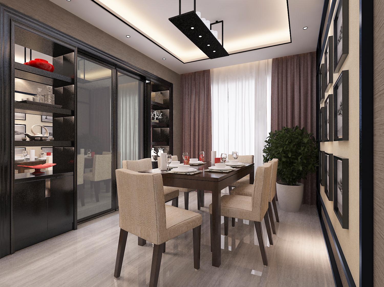 """""""4房2厅1花园""""140方新中式家装效果图"""