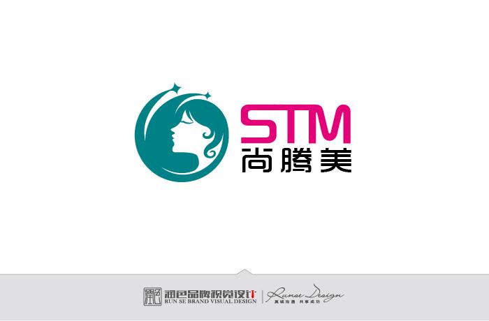 美发造型logo设计