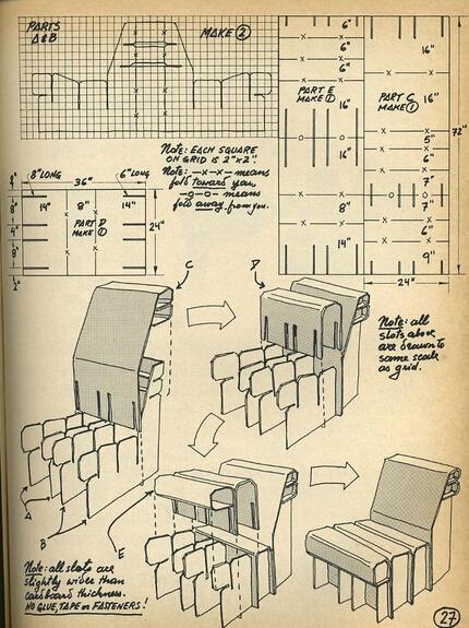 纸质家具设计图分享图片