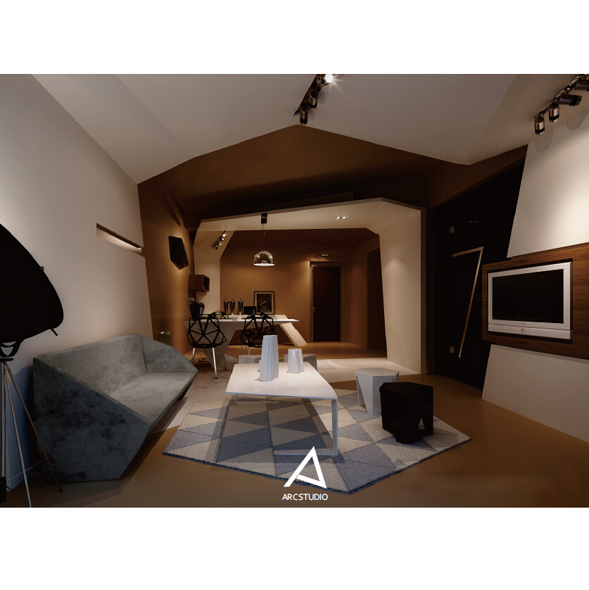 摄影工作室接待厅_arc艾柯空间创意设计公司案例展示