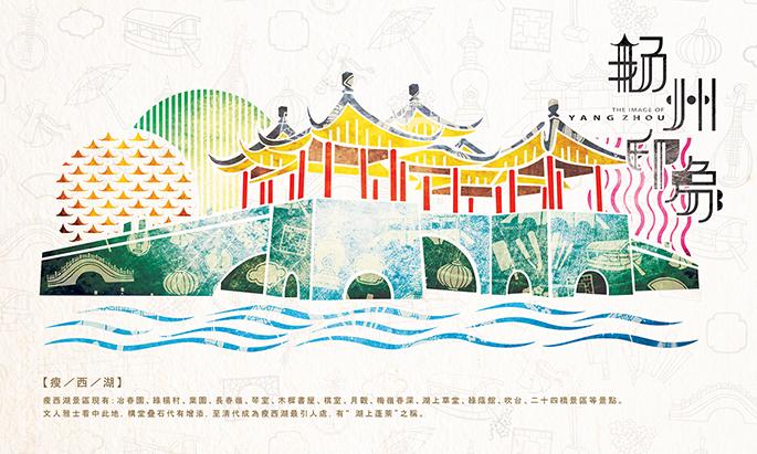 印象上海矢量图
