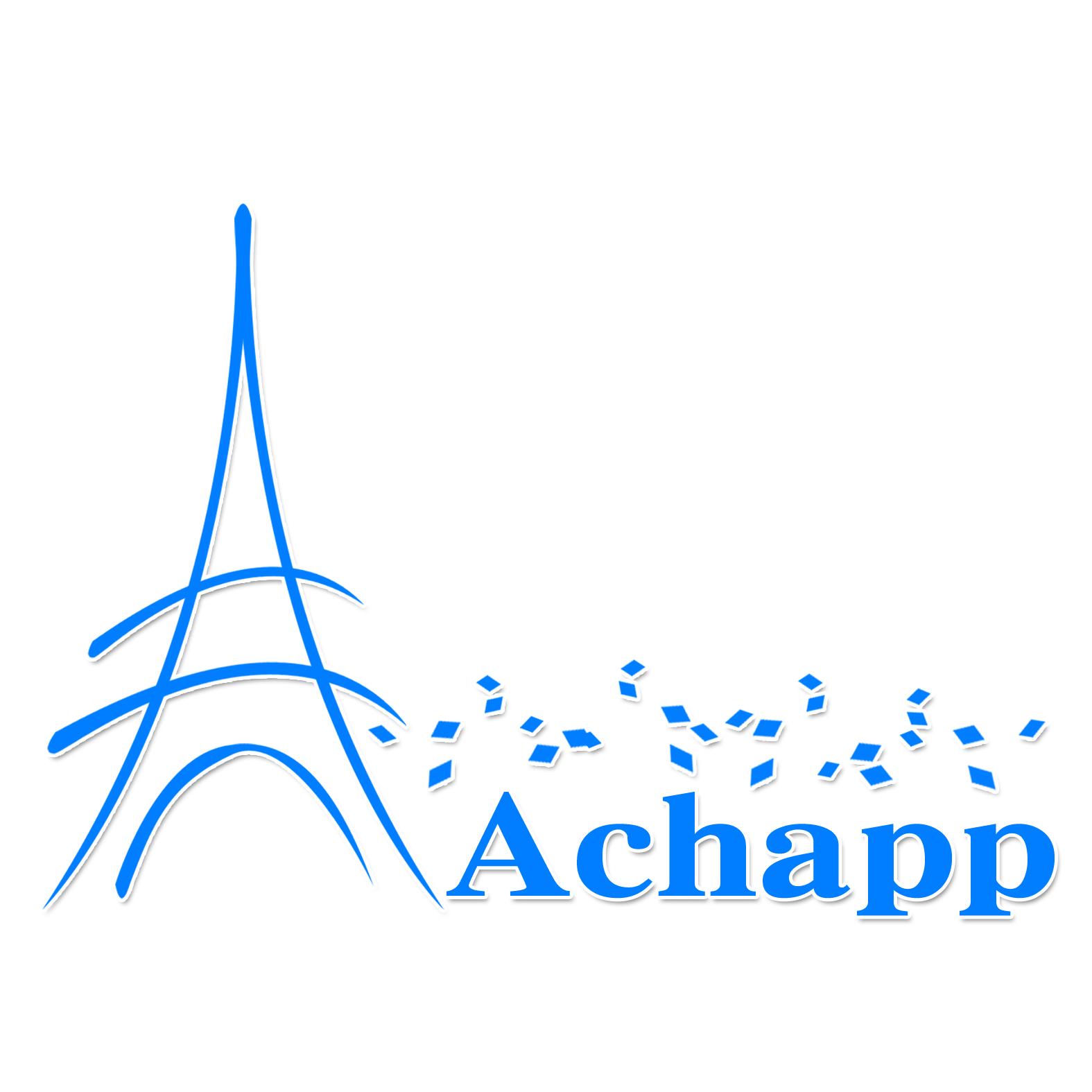 以代表欧洲,在achapp上方有多个菱形方块,为博士帽抽象变形象征留学生