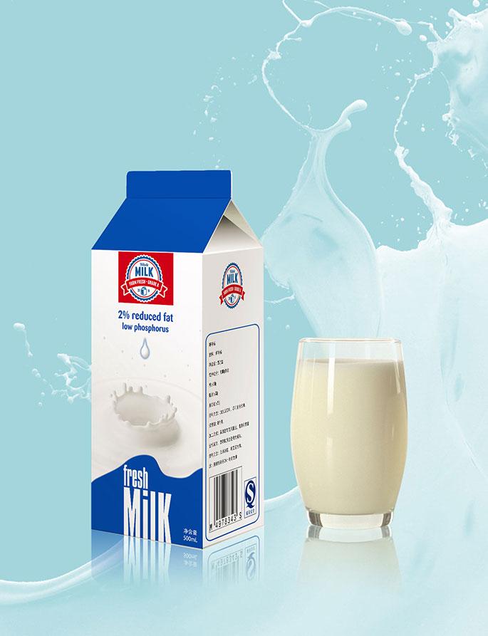 牛奶盒包装_子轩设计案例展示