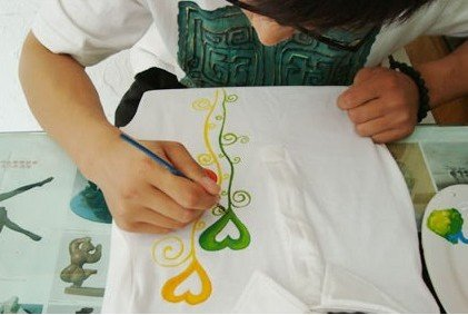 创意手绘t恤设计绘制过程