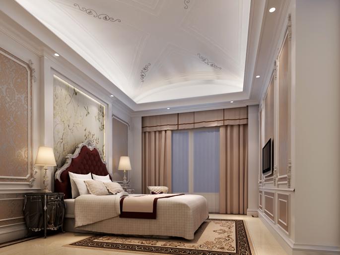 样板房为北欧风格,也可以算现代欧式风格,欧式元素体现在造型上,简洁