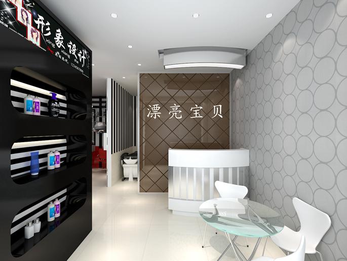 理发店室内设计30平方展示