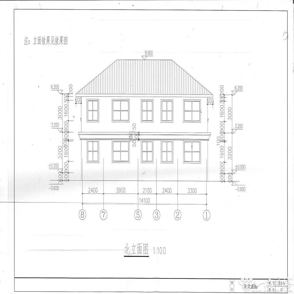 二层别墅(效果图 建筑,结构,水电施工图纸)