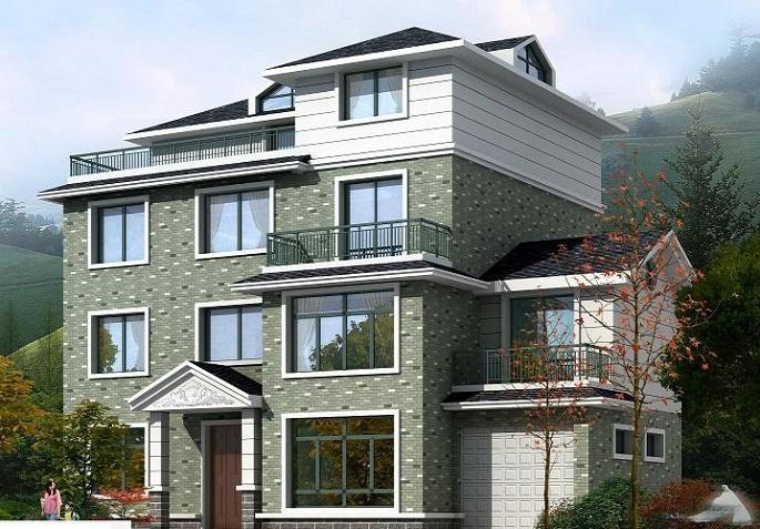 四层住宅(效果图 建筑布置图)