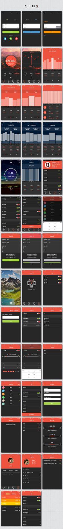 APP界面UI整套设计