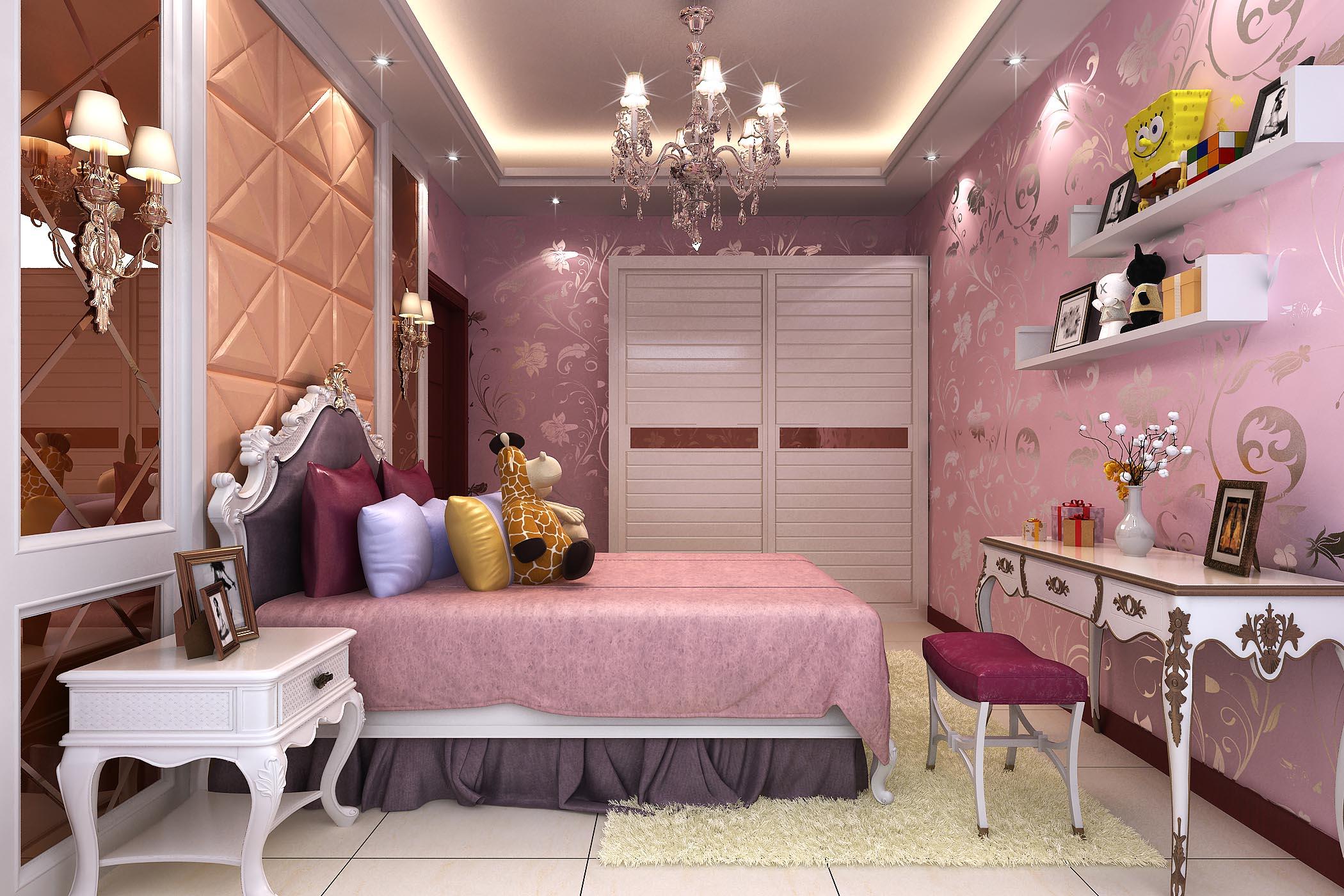 卧室效果图_新度品牌空间设计有限公司案例展示_一品