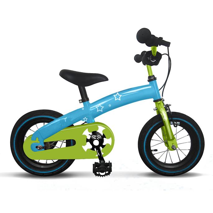 儿童自行车造型花纹设计