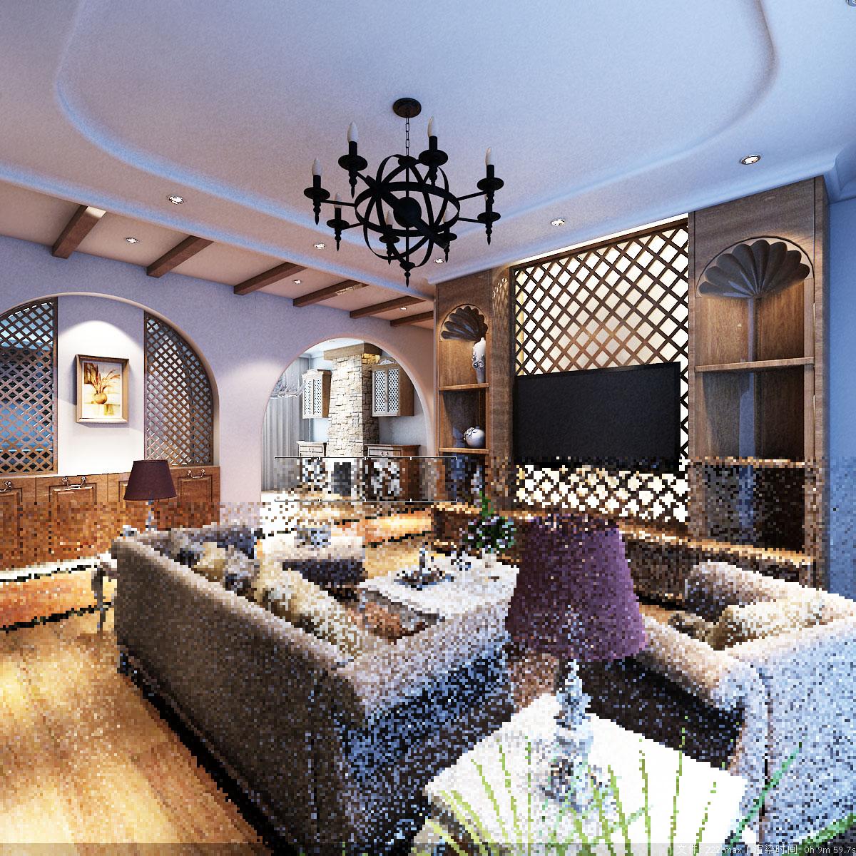 330平方室内装修,简欧风格设计