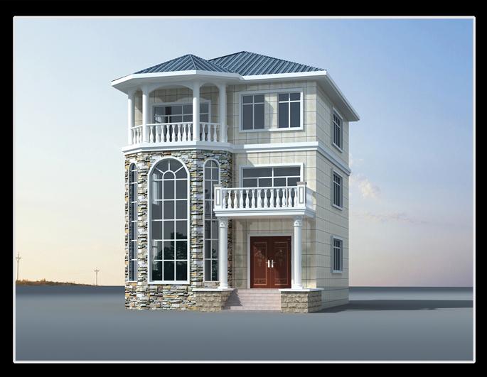 四房一卫生间,楼梯盘柱上求二层农村建房设计图小洋房小别墅都可以