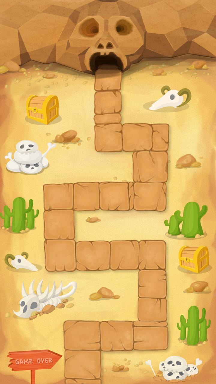 为塔防游戏绘制的地图界面
