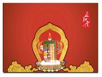 正知堂藏传佛教明信片包装及明信片背部方案设计