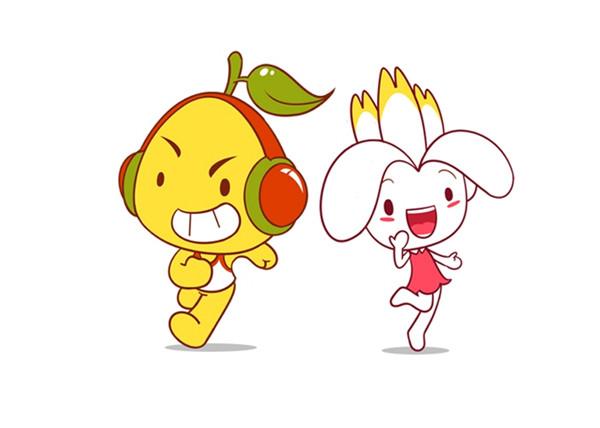 """活泼可爱""""柚子""""卡通形象"""