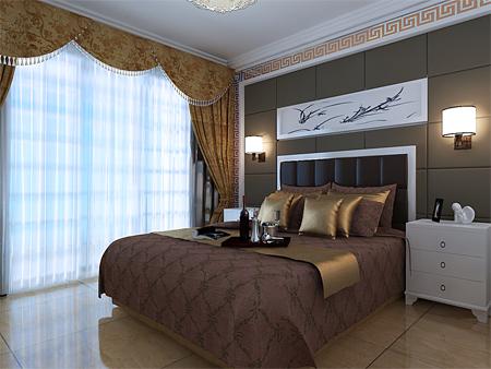 现代卧室装修风格,颜色搭配比较稳重,适合中老年居住