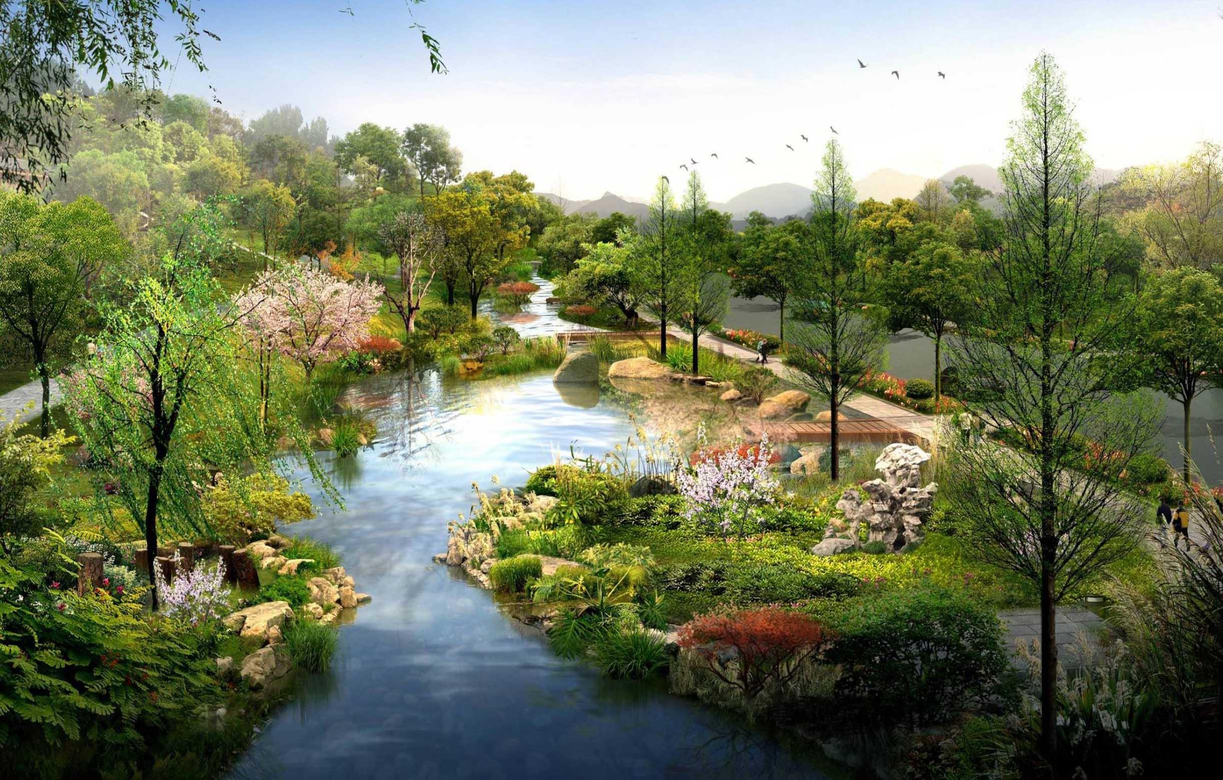 园林景观效果图制作