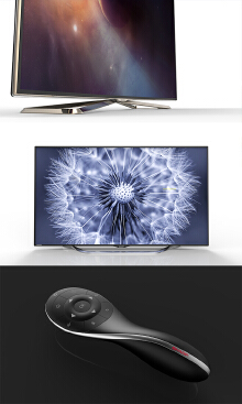 Sharp smart TV design