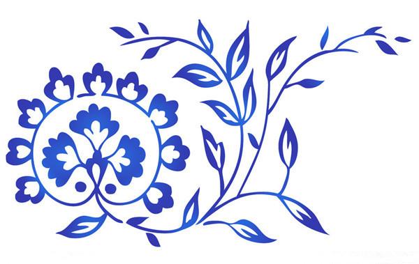 青花瓷花纹在日常用品上并不少见,古典的铜镜,首饰等等,今天的这家
