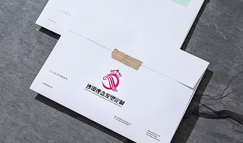 美发店logo设计_东川品牌设计图片