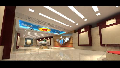 部队展厅2_灰马建筑图文设计案例展示_一品威客网