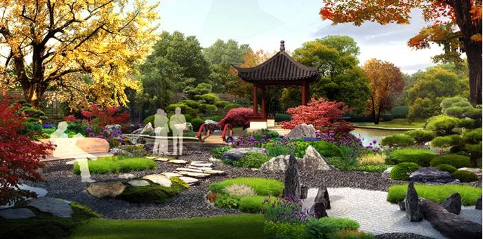 苏州道禾景观艺术设计在园林景观设计中植物的运用图片