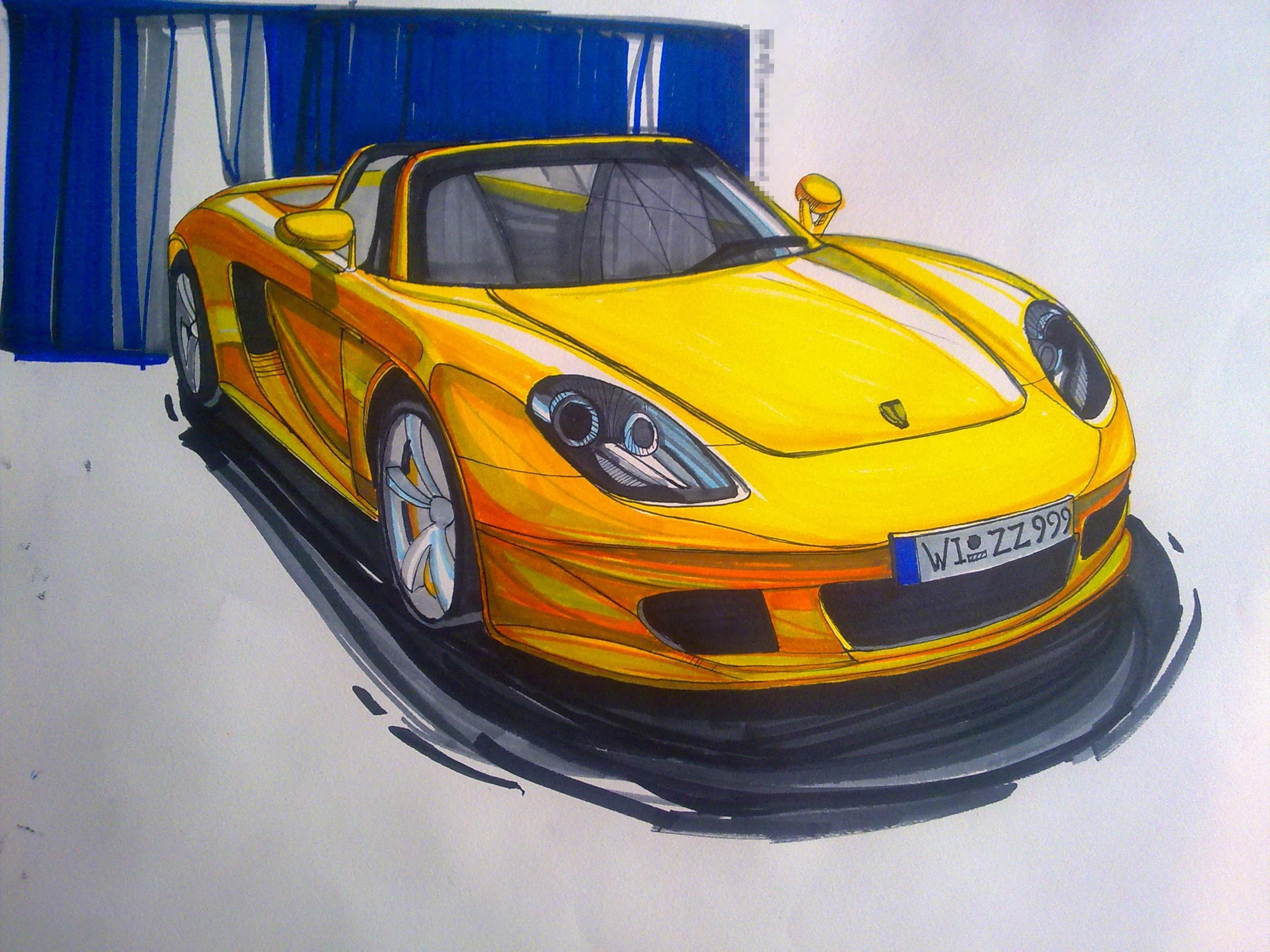 汽车设计手绘图马克笔