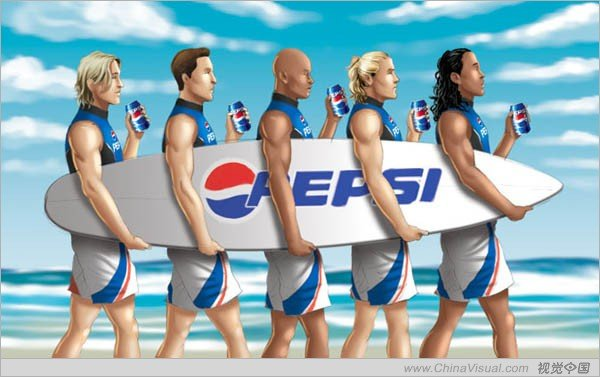 商业广告插画在欧美广告中的运用