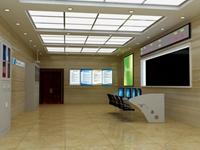 集控室改造设计3D效果图