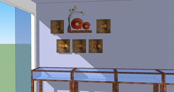文玩店背景墙设计