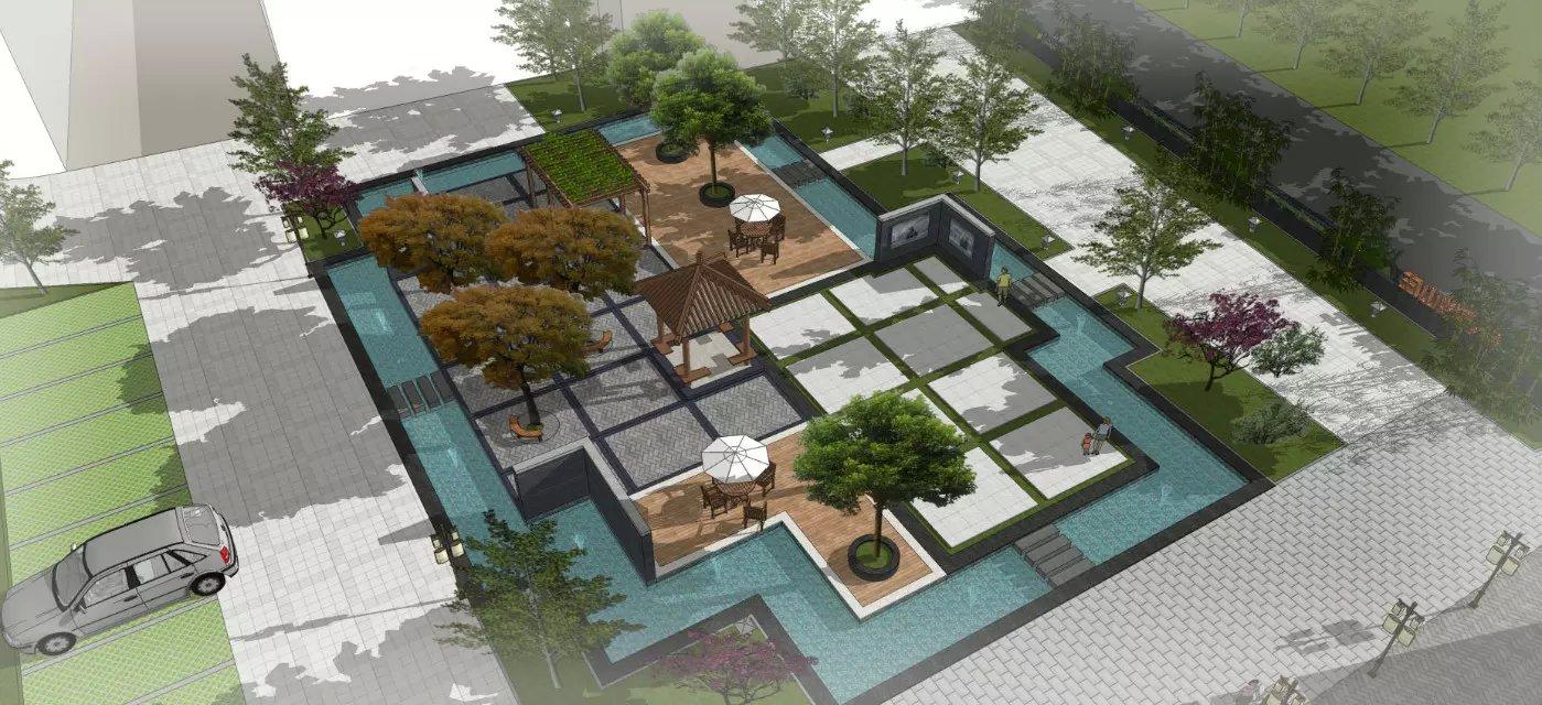 2015年山东酒店庭院景观设计