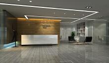 中博展览公司总部办公区设计-冷静从容方显优雅气质
