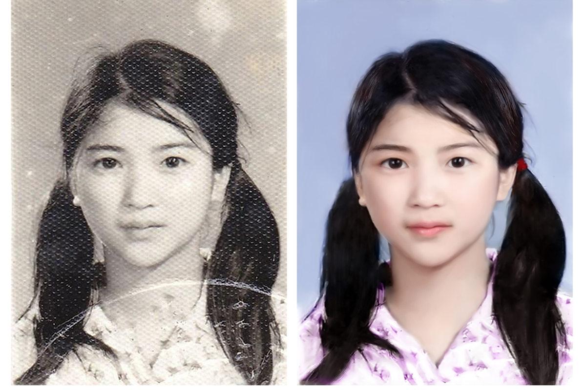 老照片翻新的脸色处理和红眼处理办法