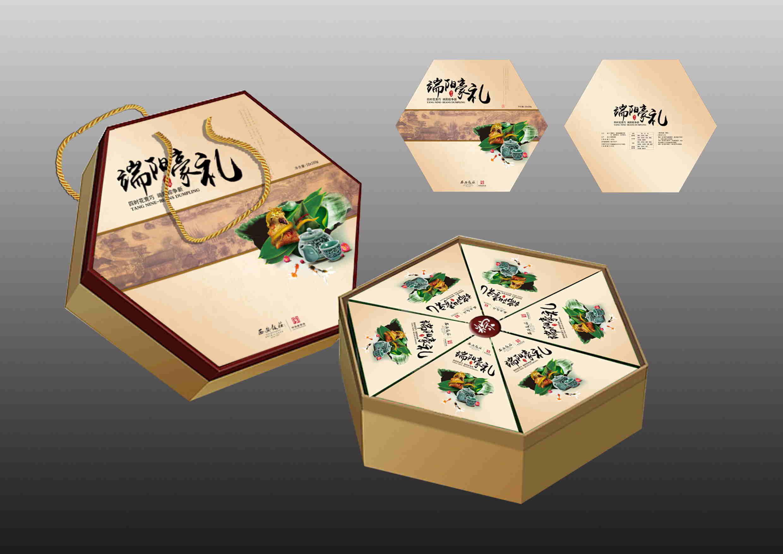 西安饭庄粽子礼盒包装